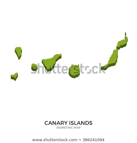 canárias · mapa · administrativo · cidade · silhueta · país - foto stock © tkacchuk
