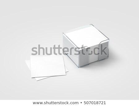 Tapadó jegyzet asztal fából készült papír ceruza Stock fotó © goir