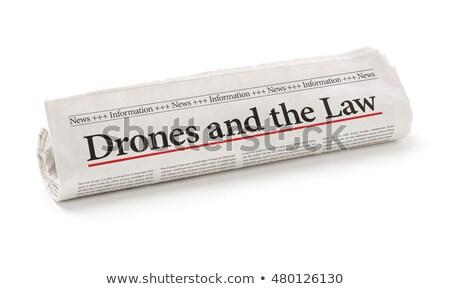 Roulé journal titre droit papier nouvelles Photo stock © Zerbor