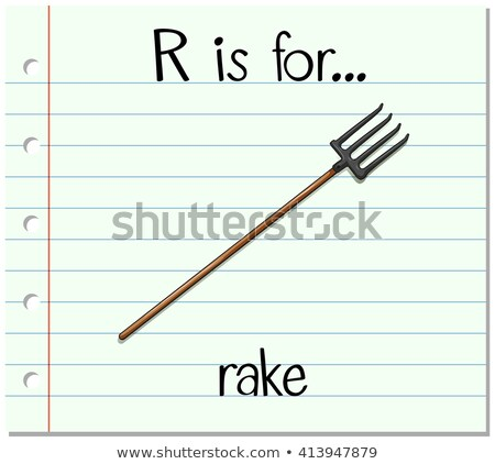 Flashcard alphabet R is for rake Stock photo © bluering