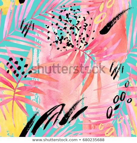 plantilla · dedo · pintura · creatividad · primavera · bebé - foto stock © zhukow
