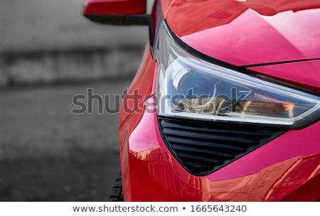 Autómobil fényszóró halogén fekete autó fény Stock fotó © IMaster