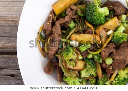 Glutensiz makarna hizmet kırık Stok fotoğraf © Komar