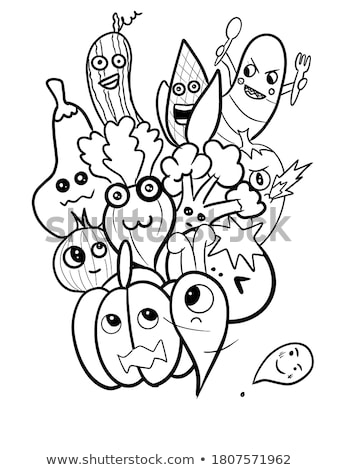 Stock photo: Cute doodle vegetables