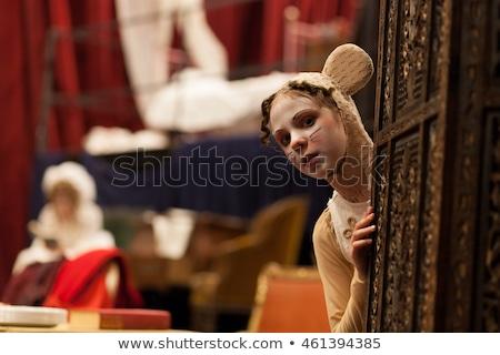 Agir jogar atuação teatro mulher música Foto stock © zurijeta