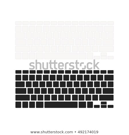 Set of notebook keyboards with empty buttons in different colours isolated on white Stock photo © Evgeny89