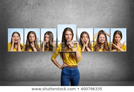 Girl with many facial expressions Stock photo © bluering
