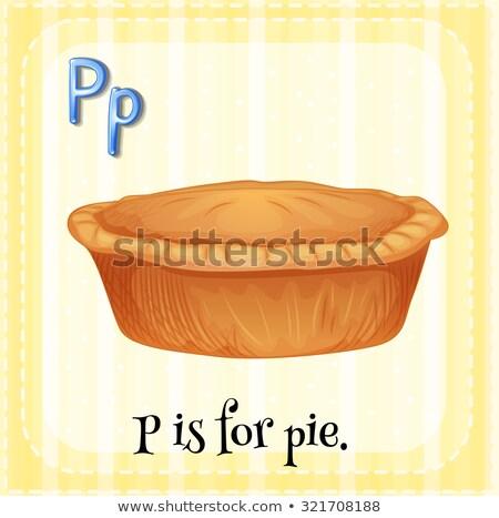Alfabet pie ilustracja dzieci dziecko tle Zdjęcia stock © bluering