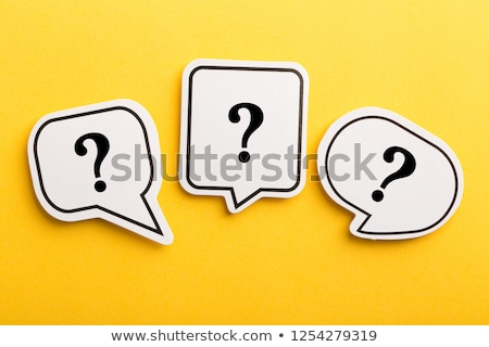 Speech bubbles - question and information, isolated on white Stock photo © Oakozhan