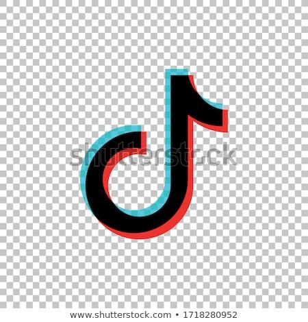 Música nota aplicativo ícone modelo móvel Foto stock © Said