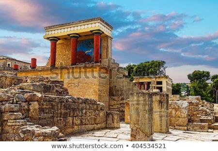 palota · Görögország · részlet · ősi · épület · fal - stock fotó © ssuaphoto