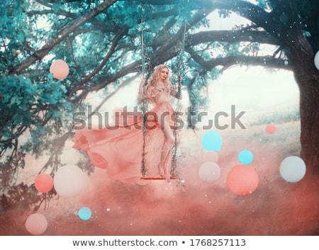 tajemniczy · przeciwmgielne · zielone · lasu · sosny · drzew - zdjęcia stock © konradbak