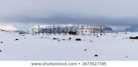 vulcão · planetas · montanha · oceano · vermelho · silhueta - foto stock © kb-photodesign