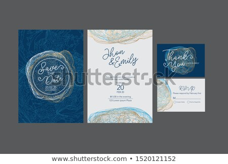 premium luxury business card design template vector design illus Stock photo © SArts
