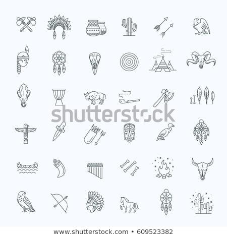 indian · iconen · vector · ingesteld · reizen · bloem - stockfoto © dashadima