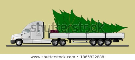 Christmas American semi-trucks Stock photo © kjpargeter