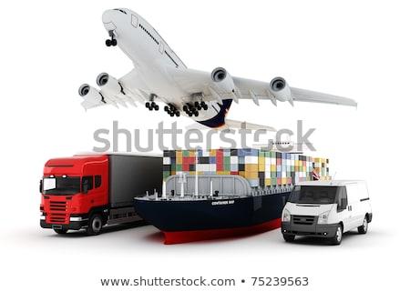 Világ széles teher szállítás 3d illusztráció Föld Stock fotó © tussik