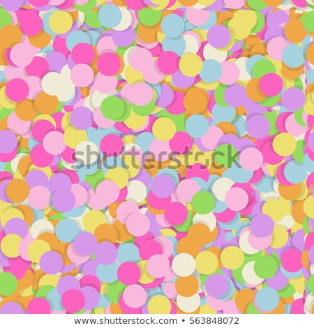 festive seamless pattern with confectionery sprinkling random mess repeated texture of pink yellow stock photo © nadiinko
