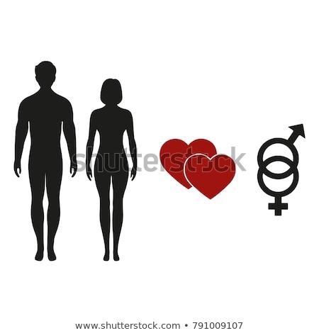 Сток-фото: группа · секс · знак · икона · белый · семьи