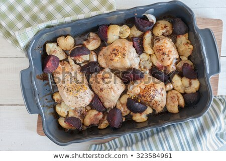 roasted beetroot with herbs garlic and balsamic vinegar stock photo © monkey_business