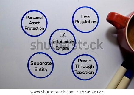 podatku · planowania · krzyżówka · strony · piśmie · znacznik - zdjęcia stock © ivelin