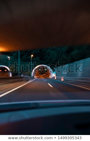 Tunnel in Mountain with Dynamic Light Stock photo © dariazu