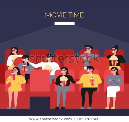 popcorn vector illustration in flat style design stock photo © robuart