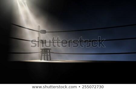 boks · pierścień · ciemne · liny · różny - zdjęcia stock © albund