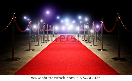 escalera · alfombra · roja · 3D · imagen · resumen · club - foto stock © pakete