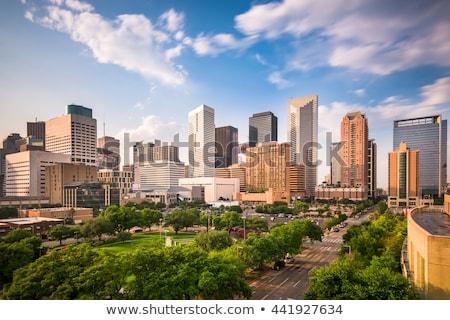 Ufuk çizgisi parlak gün batımı ofis şehir binalar Stok fotoğraf © meinzahn