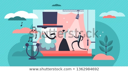 Vector flat style illustration of movie director. Stock photo © curiosity