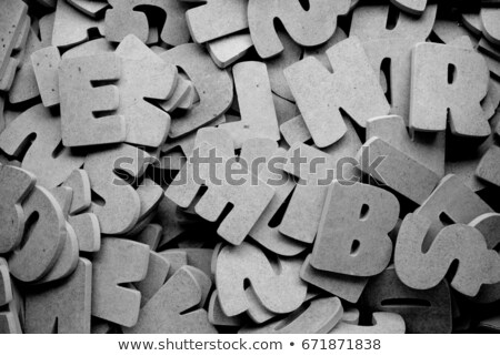 Pile of wooden cyrillic letters alphabet Stock photo © stevanovicigor
