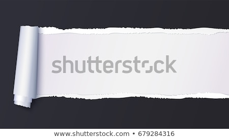 Stock photo: white page rip