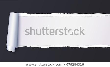 beyaz · sayfa · kâğıt · gölge · etki · soyut - stok fotoğraf © nicemonkey