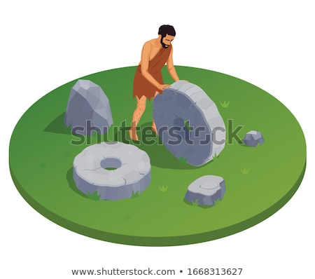 round composition of prehistoric animals icons stock photo © curiosity