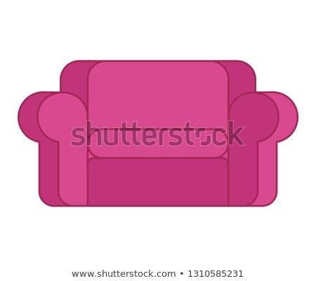 Różowy sofa odizolowany miękkie kanapie Zdjęcia stock © popaukropa
