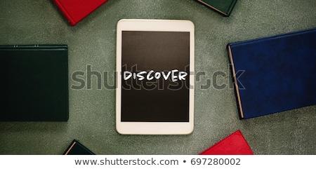 Digitalen Tablet farbenreich Tafel Ansicht Fenster Stock foto © wavebreak_media