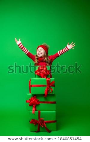 sensual · senhora · vermelho · maiô · belo - foto stock © svetography