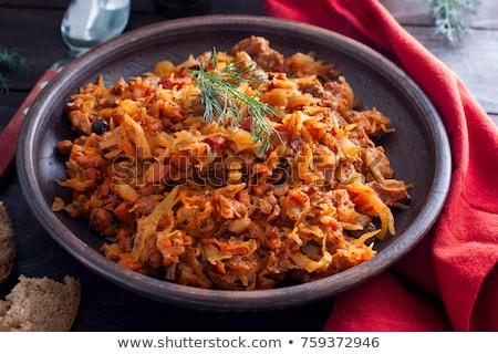 Viande ragoût chou carotte repas ail Photo stock © yelenayemchuk