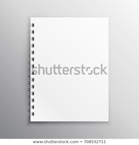 book or diary mockup brank template with spiral binding Stock photo © SArts