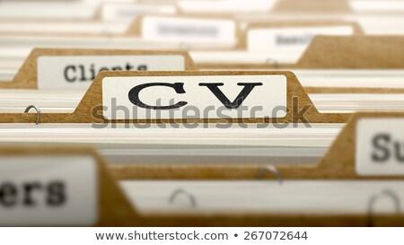 Cv carpetas catálogo documento primer plano Foto stock © tashatuvango