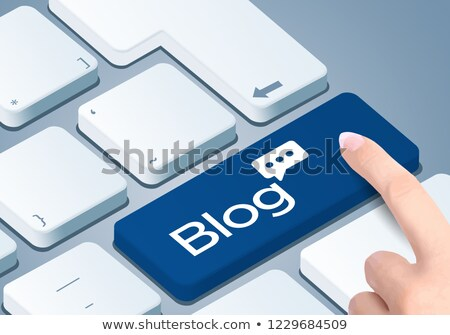 Blogging jaune 3D modernes clavier d'ordinateur portable Photo stock © tashatuvango
