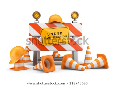 estrada · fechado · assinar · rua · reconstrução - foto stock © nobilior
