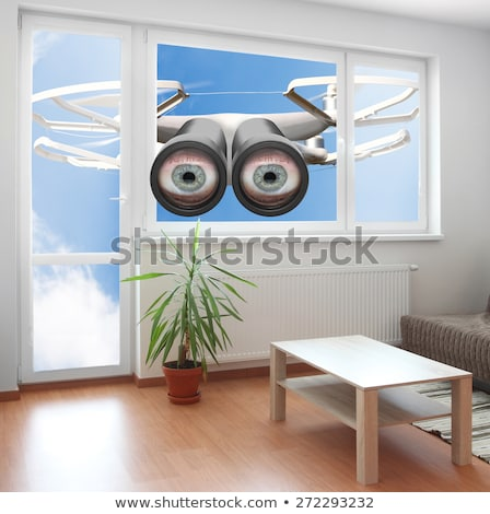 Drone spying through house window Stock photo © AndreyPopov