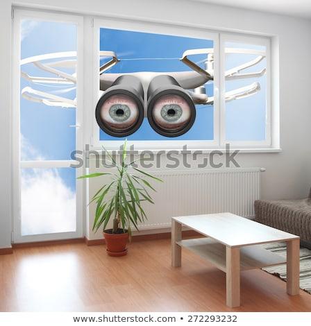 casusluk · ev · pencere · görmek · güvenlik - stok fotoğraf © andreypopov