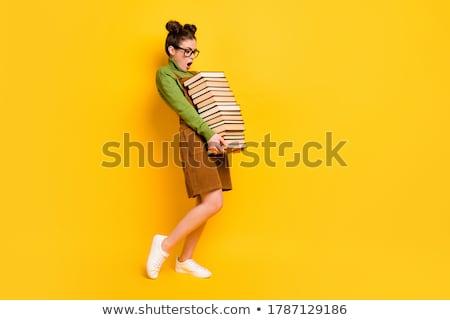 Kitap okuyucu modern elektronik arkadan görünüm Stok fotoğraf © homydesign