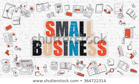 Small Business Solutions Concept with Doodle Design Icons. Stock photo © tashatuvango