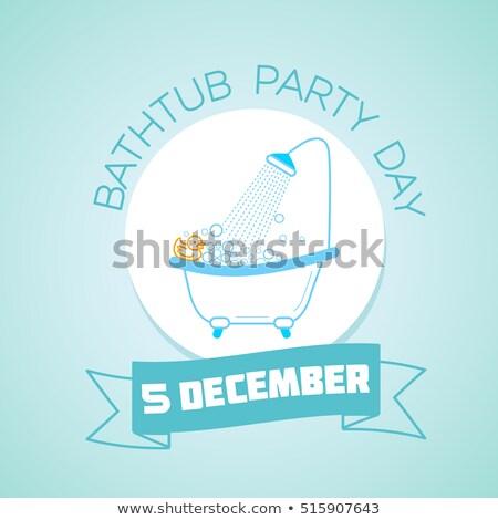 Dicembre vasca da bagno party giorno calendario biglietto d'auguri Foto d'archivio © Olena