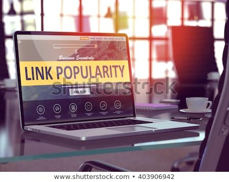 Link populariteit laptop scherm 3D Stockfoto © tashatuvango