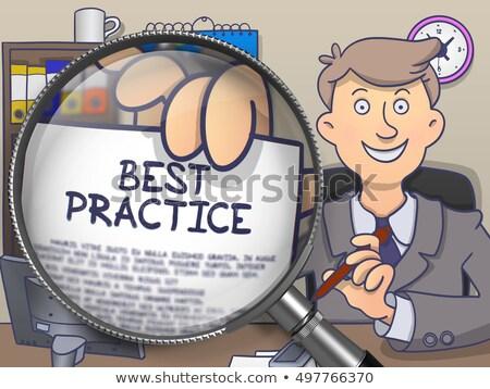 Best praktijk lens doodle papier hand Stockfoto © tashatuvango